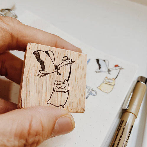 Catdoo rubber stamp - Happy Delivery