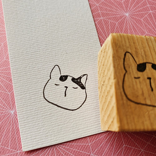Catdoo rubber stamp - Neko icon - Daydreaming