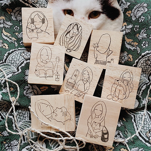 Catdoo rubber stamp - Mi&Meow vol.3 set