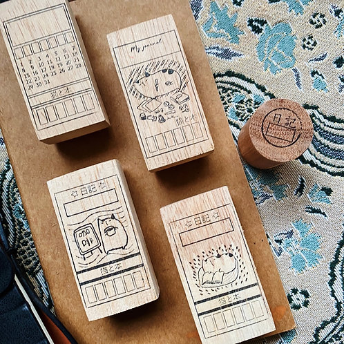 Catdoo rubber stamp set - Jour de set