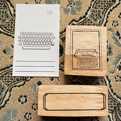 Catdoo label stamps - Classic typing set