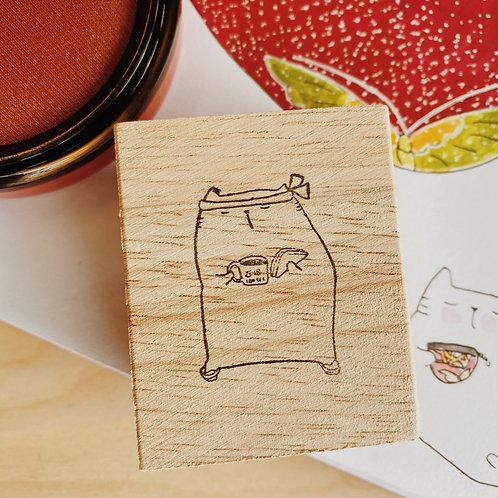 Catdoo rubber stamp - Japan memories - Ishida cafe
