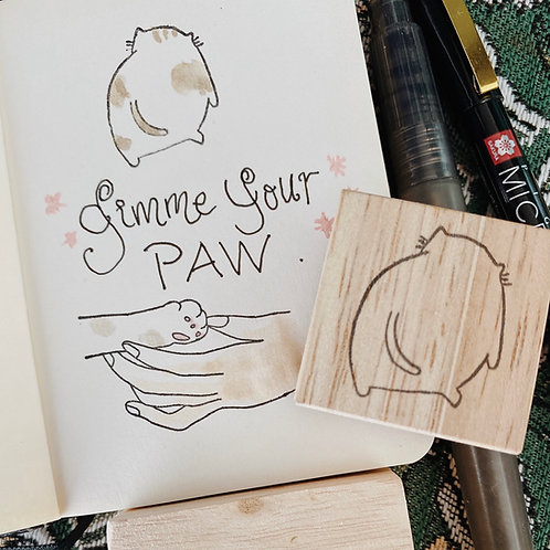 Catdoo rubber stamp - Paw friend