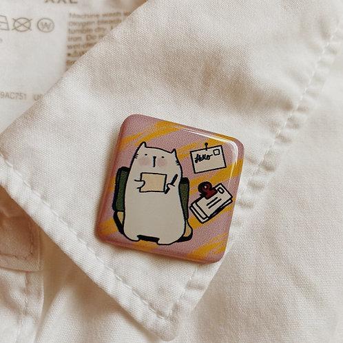 Catdoo collar pin - SR1 - Snail Mailing meow