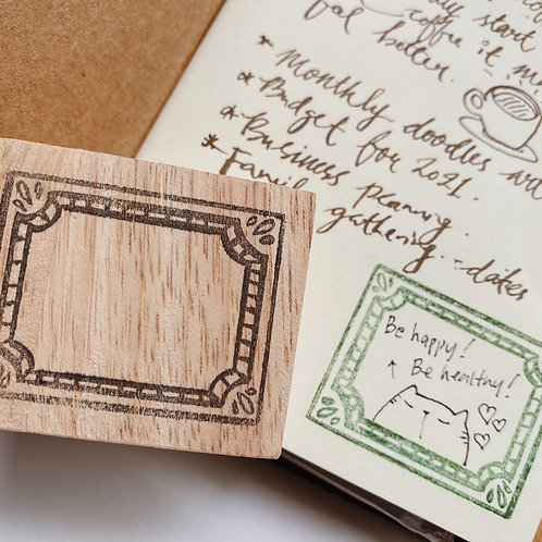 Catdoo label stamp - Collections series - Classic Brass frame