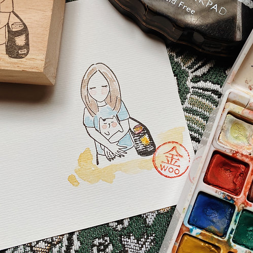 Catdoo rubber stamp  - Mi&Meow vol.3 - Shopping with Meow