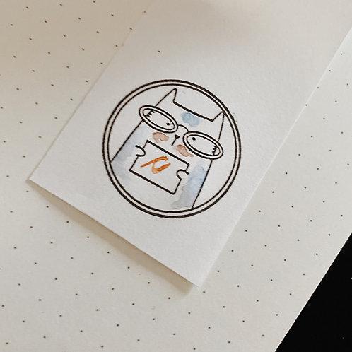 Catdoo rubber stamp - BuJo series stamp - BuJo notes stamp