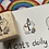 Thumbnail: Catdoo rubber stamp : ' A cats daily like ' Exercise, coffee & book cat