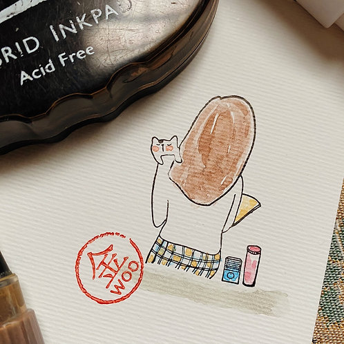 Catdoo rubber stamp - Mi & Meow vol.3 - Chill out with Meow