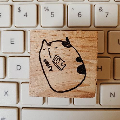 Catdoo rubber stamp - Neko&Book - dango 🍡 time