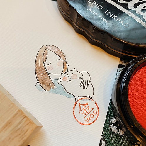 Catdoo rubber stamp - Mi&Meow vol.3 - togetherness
