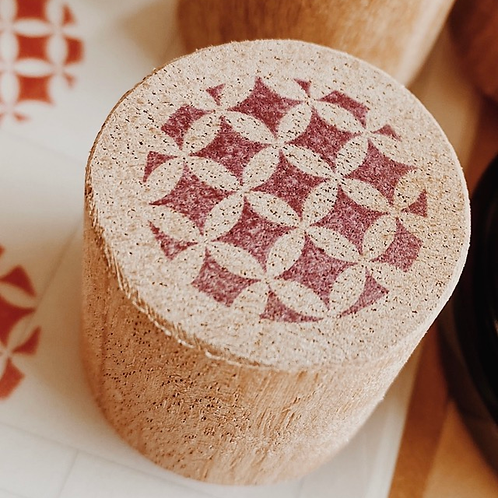 Catdoo rubber stamp - Japanese floral pattern