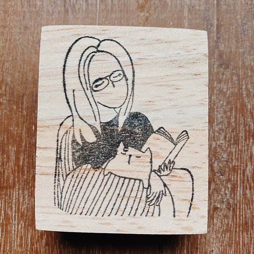 Catdoo rubber stamp - Mi&Meow series vol.2 - Time with Meow