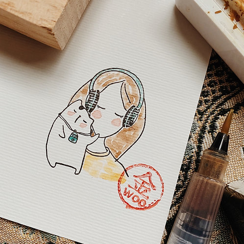 Catdoo rubber stamp  - Mi & Meow vol.3 - Meow and music