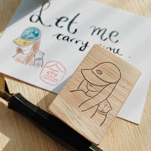 Catdoo Rubber Stamp - let me carry you