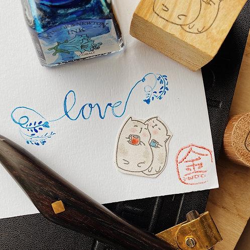 Catdoo rubber stamp - Loving Cuppa