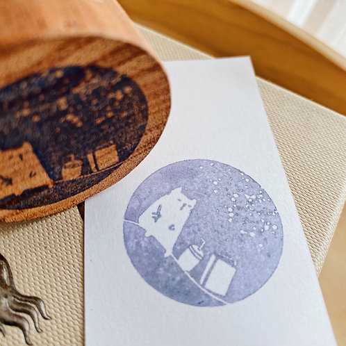 Catdoo Rubber Stamp - BuJo series Writing x Coffee under the sky