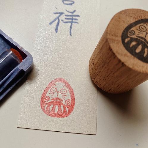 Catdoo Daruma stamp - Meow Daruma