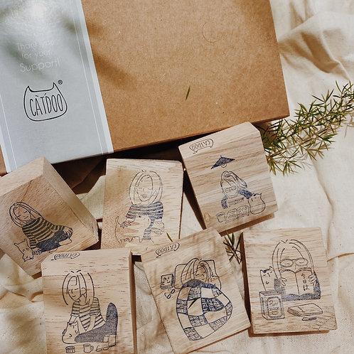 Catdoo Rubber Stamp - Mi & Meow series set