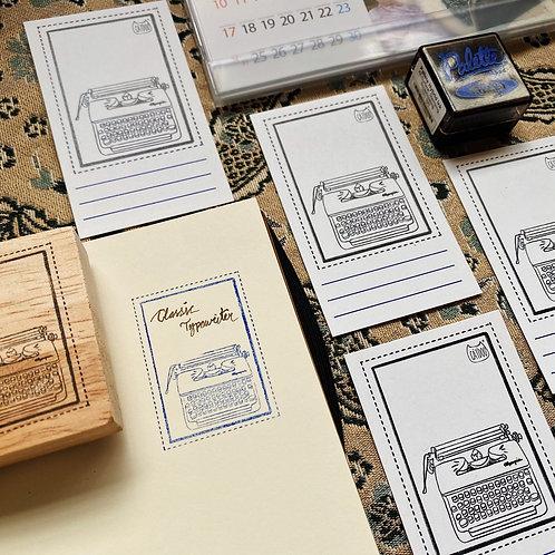 Catdoo label stamp - Classic typewriter