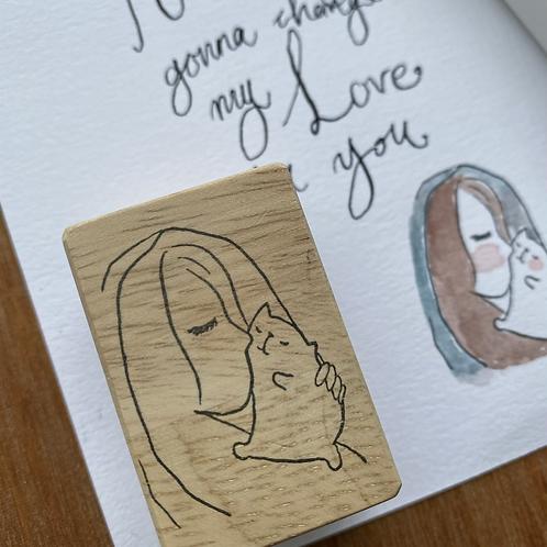 Catdoo Rubber Stamp - My Love
