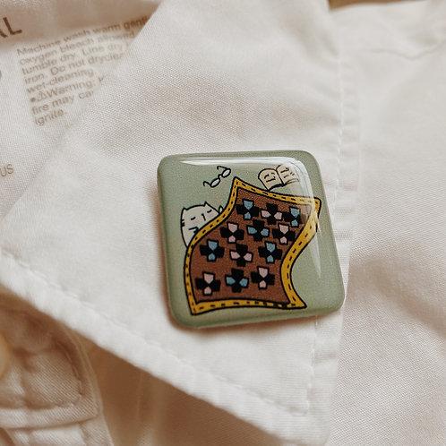Catdoo collar pin - SR1 - Quilt Quilt meow