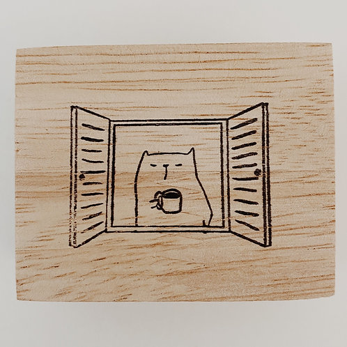 Catdoo rubber stamp - coffee frm your home