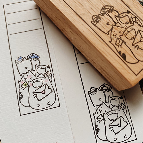 Catdoo label  stamp - Happy Mail for everyone