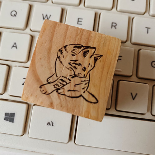 Catdoo rubber stamp - Little street cat 2