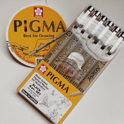 Pigma Micron water-based Pigment Marker for illustration set