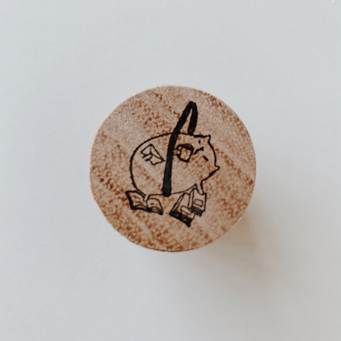 Catdoo rubber stamp : ' A cats daily like ' Exercise, coffee & book cat