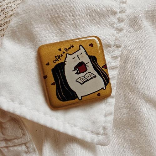 Catdoo Collar pin - SR1 - coffee &book