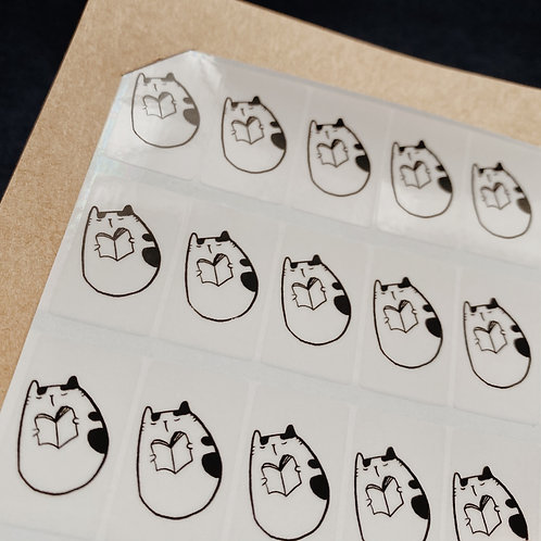 Catdoo Stickers - Neko&Book fun stickers - Reading Book
