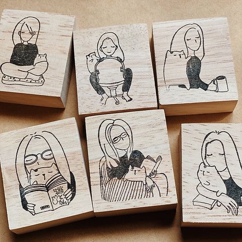 Catdoo rubber stamp - Mi&Meow series vol.2 set