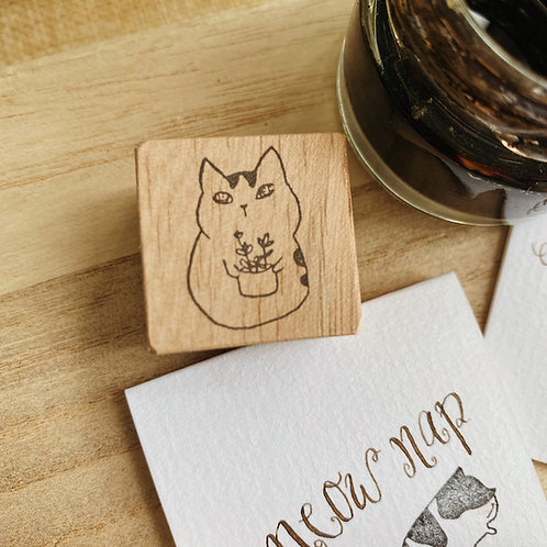 Catdoo Rubber Stamp - Meowww plant