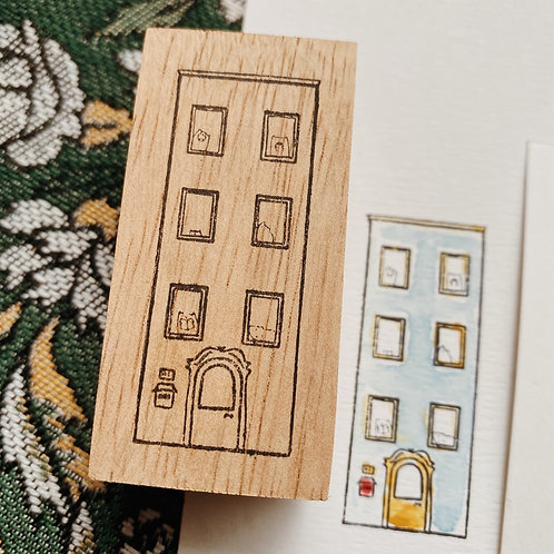 Catdoo rubber stamp - cats apartment