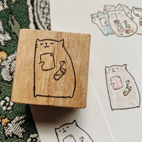 Catdoo rubber stamp - Enjoy every moments