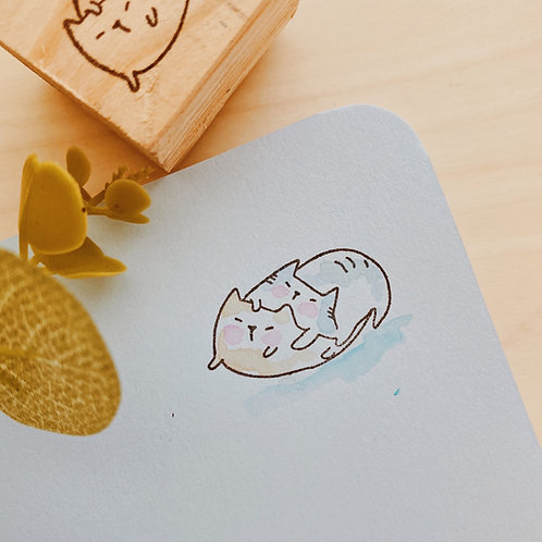 Catdoo rubber stamp - cats love