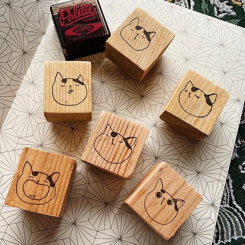 Catdoo rubber stamp - Neko icon series set