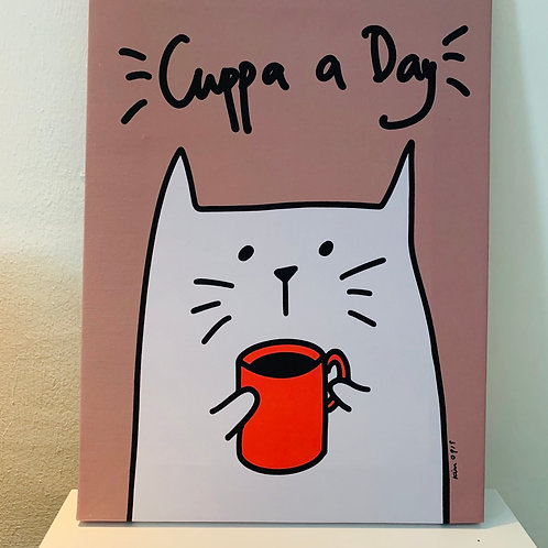 Canvas Frame - Cuppa A Day (A3 size)