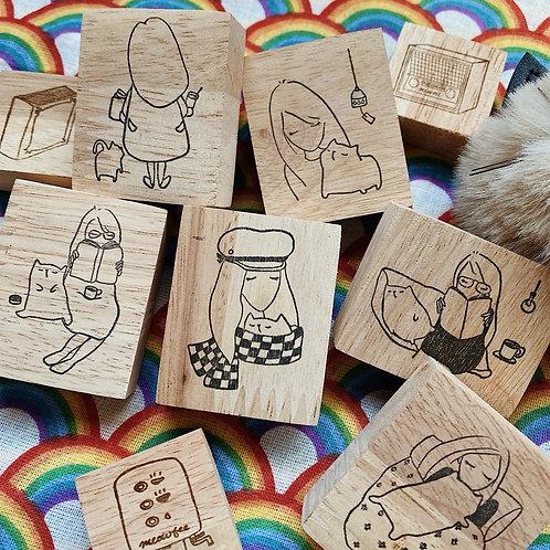 Catdoo rubber stamp - Always better together series set