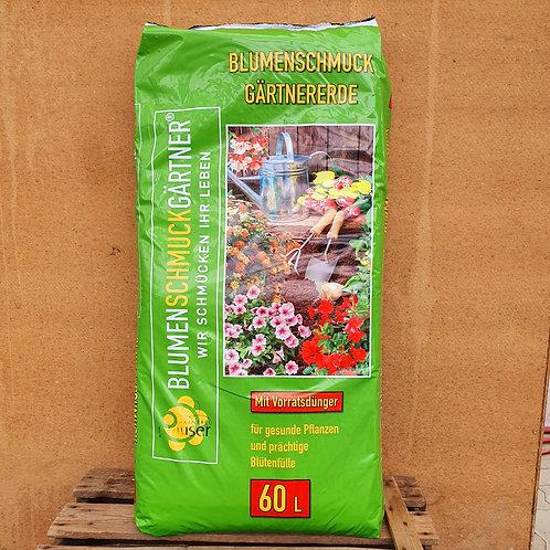 Blumenschmuck-Gärtnererde - 60 Liter