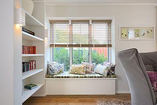 Wohnzimmer Fenstersitzplatz Fertighaus Kampa