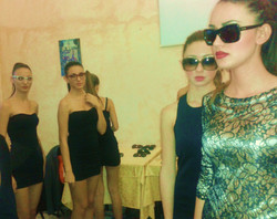 Backstage sfilata
