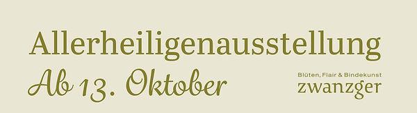 Allerheiligenausstellung ab 13. Oktober - Gärtnerei Zwanzger