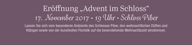 Avent im Schloss Piber