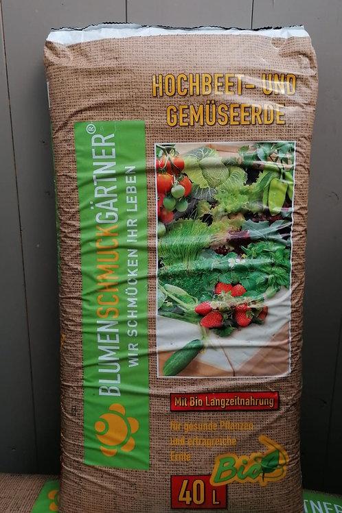 Bio Erde - Hochbeet und Gemüse - 40 Liter
