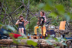 Hannah James and Claudia Schwab at Floating Castle Festival