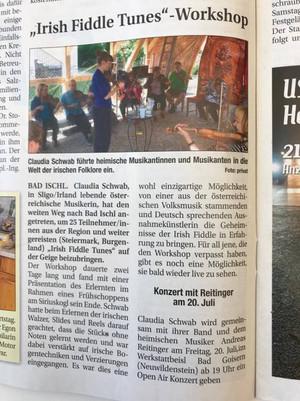Bad Ischl Fiddle Workshop - 2018