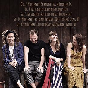 CLAUDIA SCHWAB QUARTETT CONTINETAL-TOUR